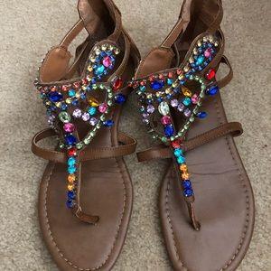 jeweled gladiator sandals